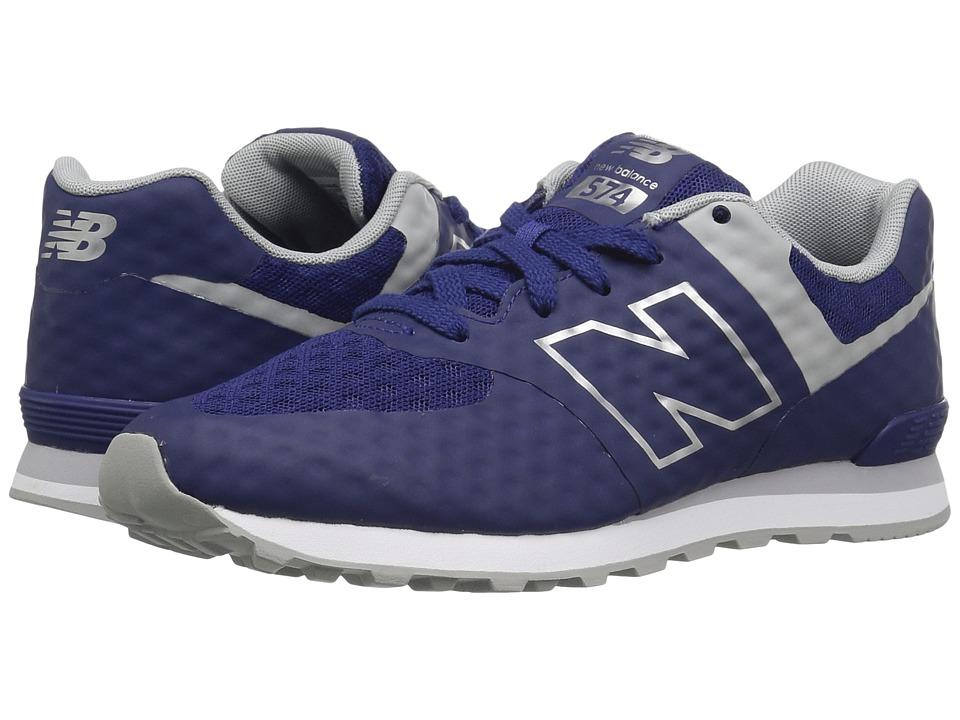 New Balance Kids - 574 Breathe (Big Kid) (Blue/Grey) Boy's Shoes