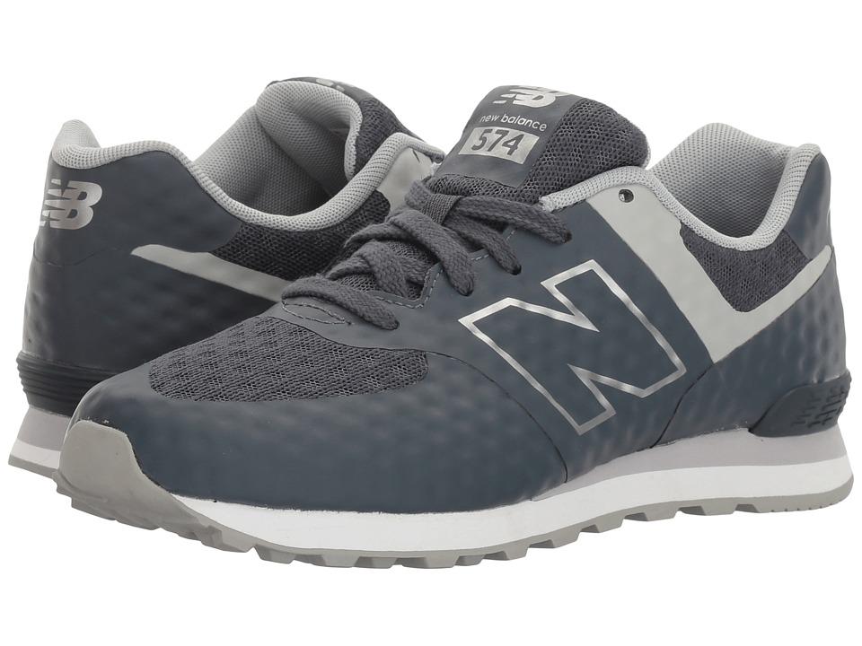 New Balance Kids - 574 Breathe (Big Kid) (Grey/Grey) Boy's Shoes