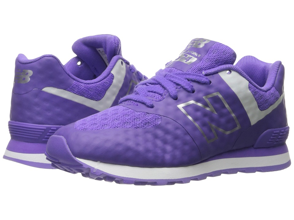 New Balance Kids - 574 Breathe (Little Kid) (Purple/Grey) Girl's Shoes