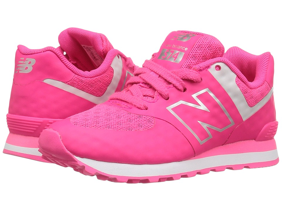 New Balance Kids - 574 Breathe (Little Kid) (Pink/Grey) Girl's Shoes