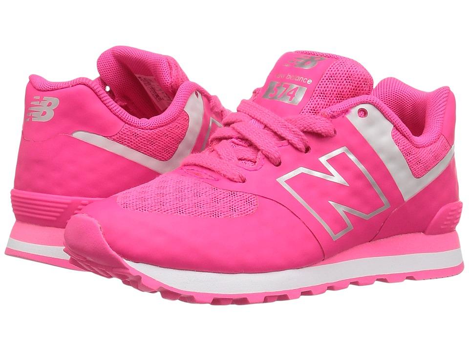 New Balance Kids - 574 Breathe (Little Kid) (Pink/Grey) Girl's Shoes