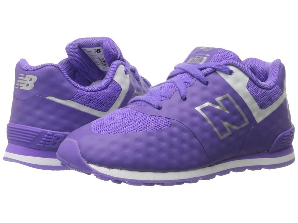 New Balance Kids 574 Breathe (Infant/Toddler) (Purple/Grey) Girls Shoes