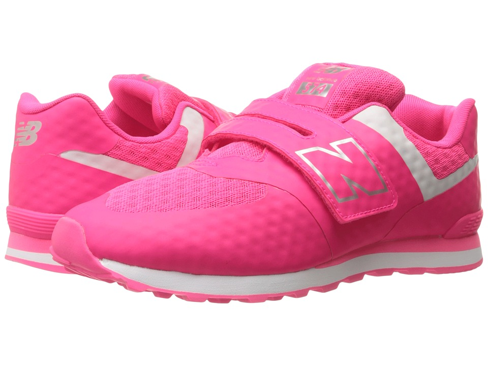 New Balance Kids - 574 Breathe HL (Little Kid/Big Kid) (Pink/Grey) Girls Shoes