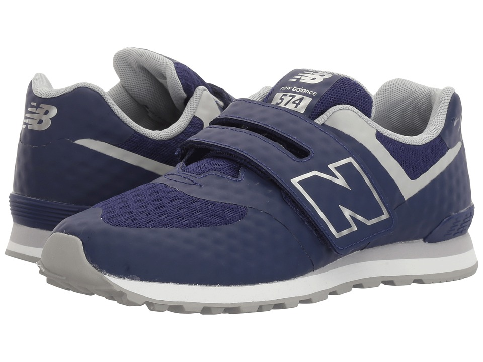 New Balance Kids - 574 Breathe HL (Little Kid/Big Kid) (Blue/Grey) Boys Shoes
