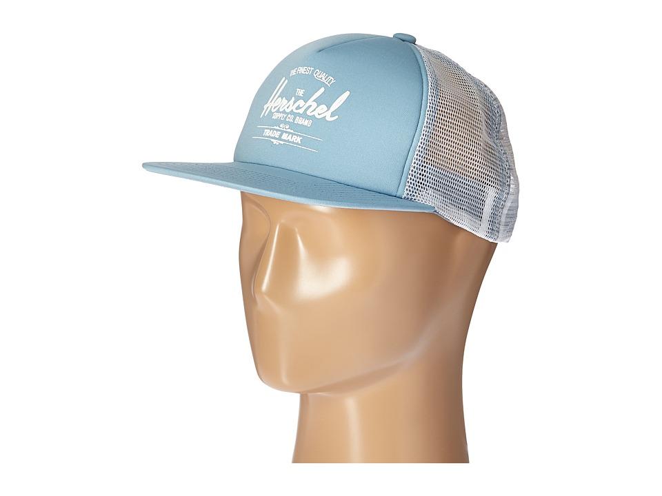 Herschel Supply Co. - Whaler Mesh (Stone Blue/White) Caps