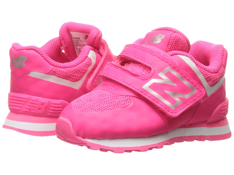 New Balance Kids - 574 Breathe HL (Infant/Toddler) (Pink/Grey) Girls Shoes