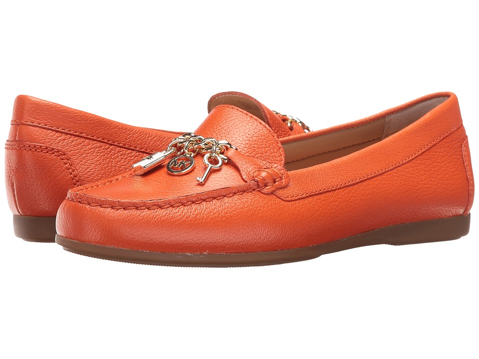 MICHAEL Michael Kors Suki Moc Mimosa Tumbled Leather Womens Moccasin Shoes