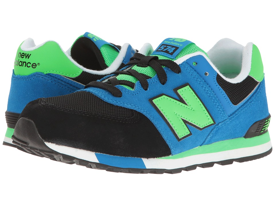 New Balance Kids - KL574v1 (Big Kid) (Black/Blue) Boys Shoes