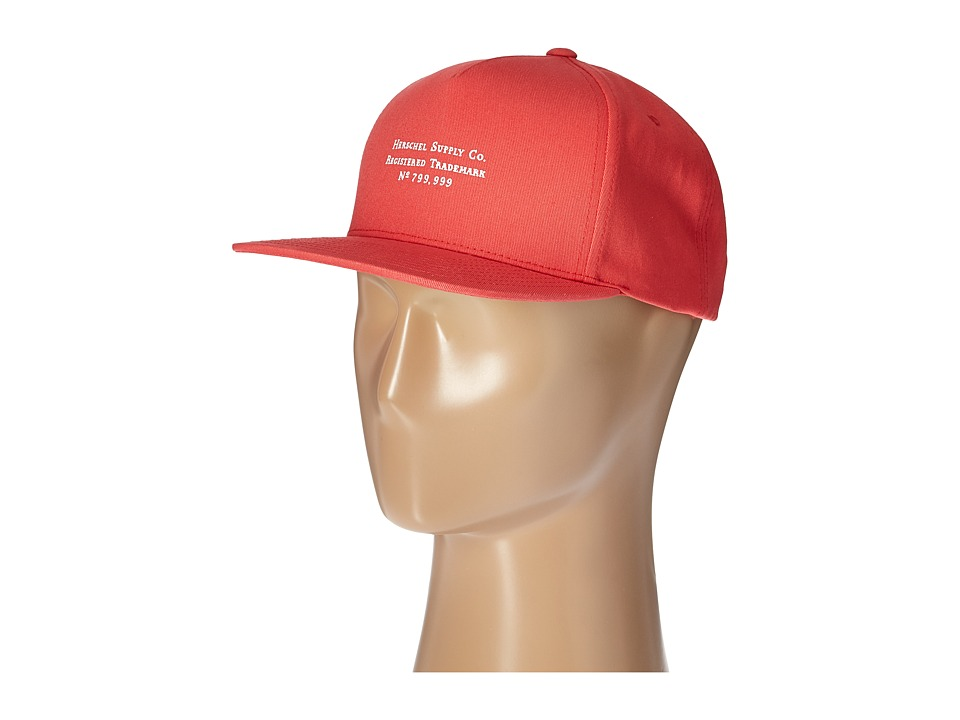 Herschel Supply Co. - Trademark (Rococo Red) Caps