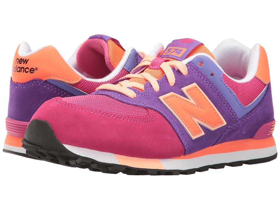 New Balance Kids KL574v1 (Big Kid) (Pink/Purple) Girls Shoes