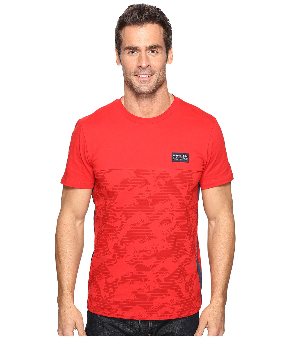 PUMA - RBR All Over Tee (Chinese Red) Men's T Shirt