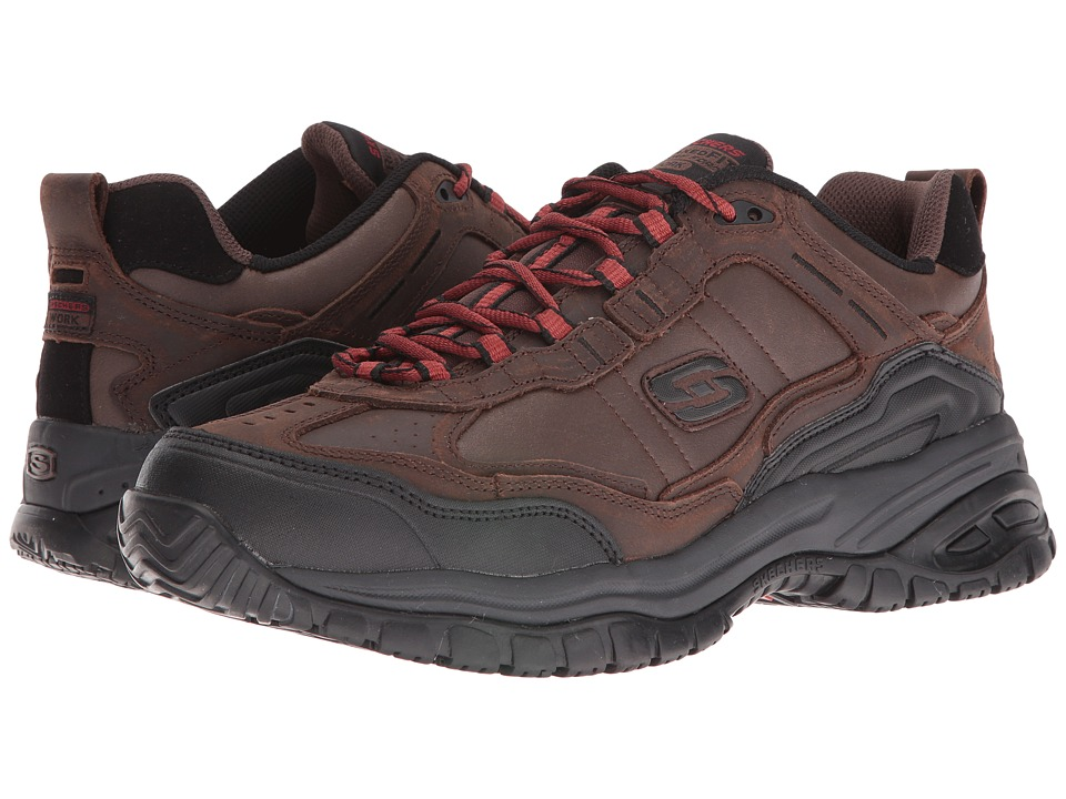 SKECHERS Work - Soft Stride - Acworth (Brown Buffalo Crazyhorse Leather/Trim) Men's Shoes