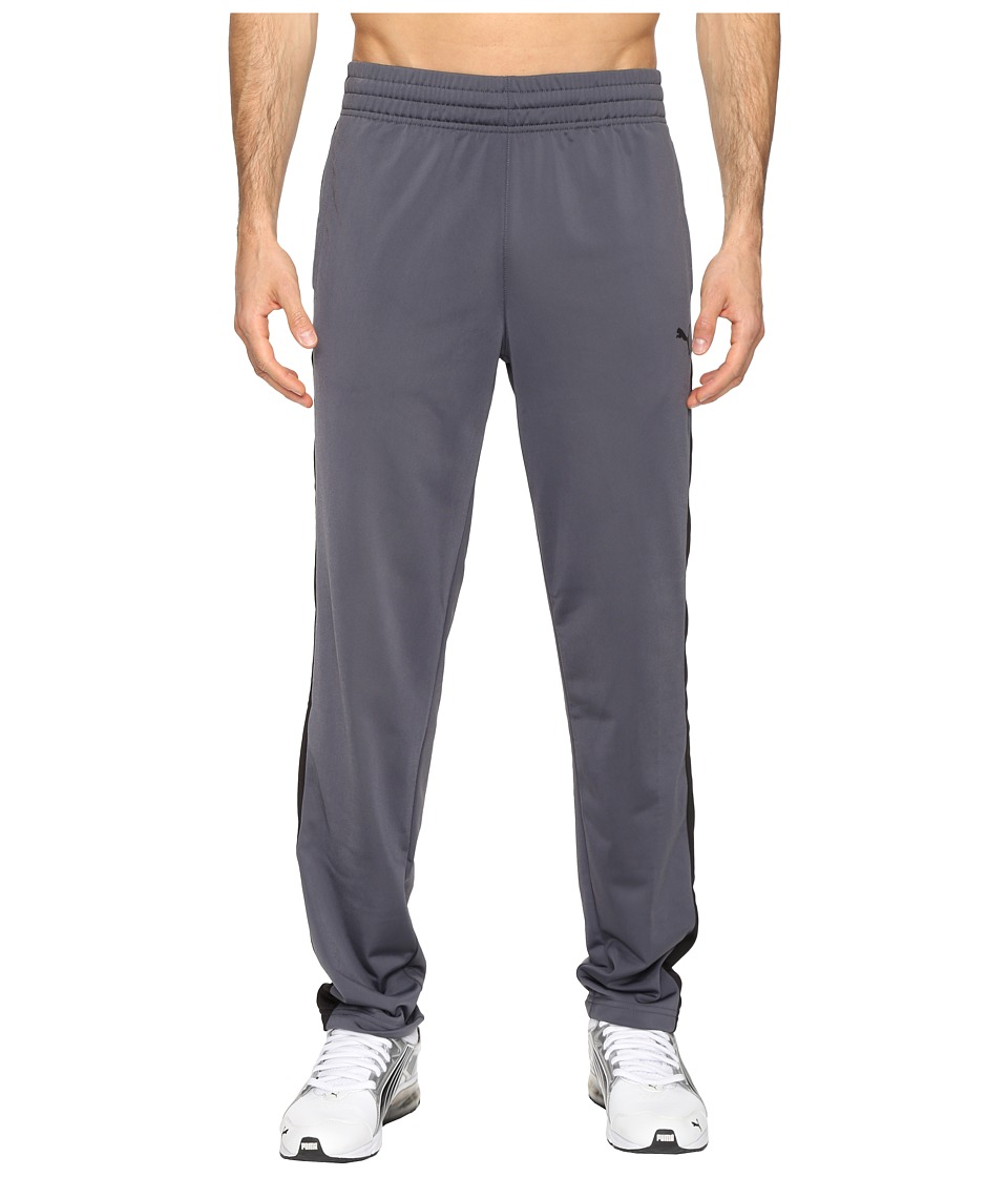 PUMA - Contrast Open Pants (Ebony/Puma Black) Men's Casual Pants