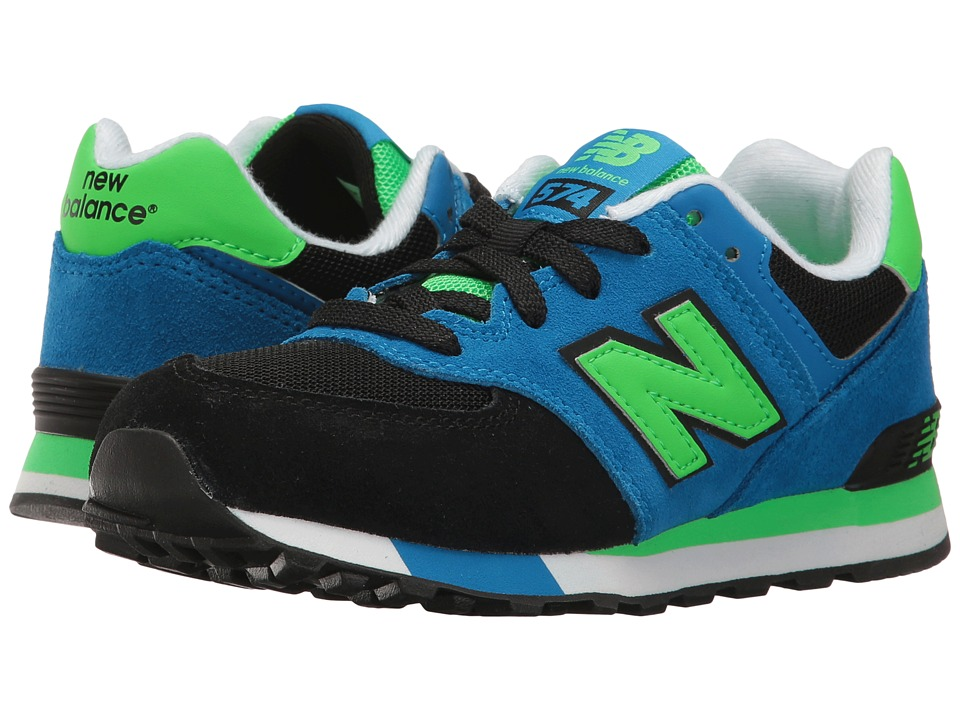 New Balance Kids - KL574v1 (Little Kid) (Black/Blue) Boys Shoes