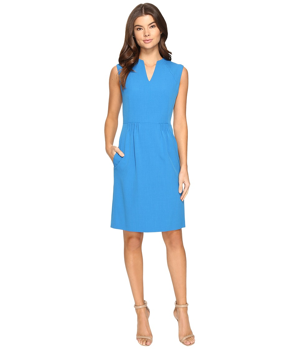 Tahari by ASL - Paperbag Waist A-Line (Hawaiian Blue) Women's Dress