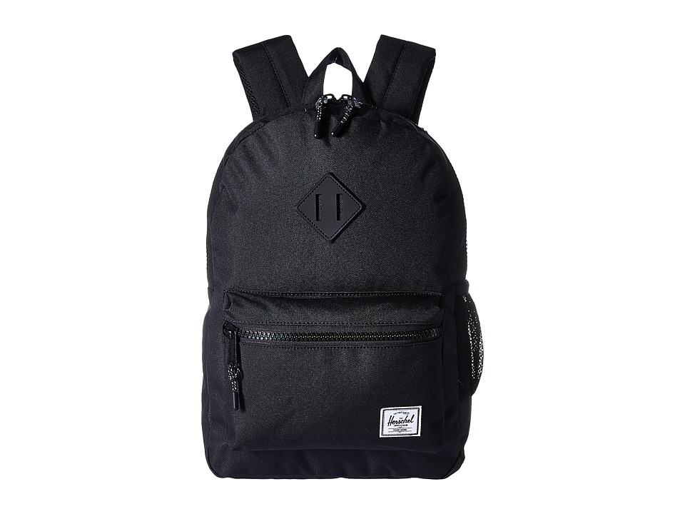 Herschel Supply Co. - Heritage Youth (Big Kids) (Black/Black Rubber) Backpack Bags