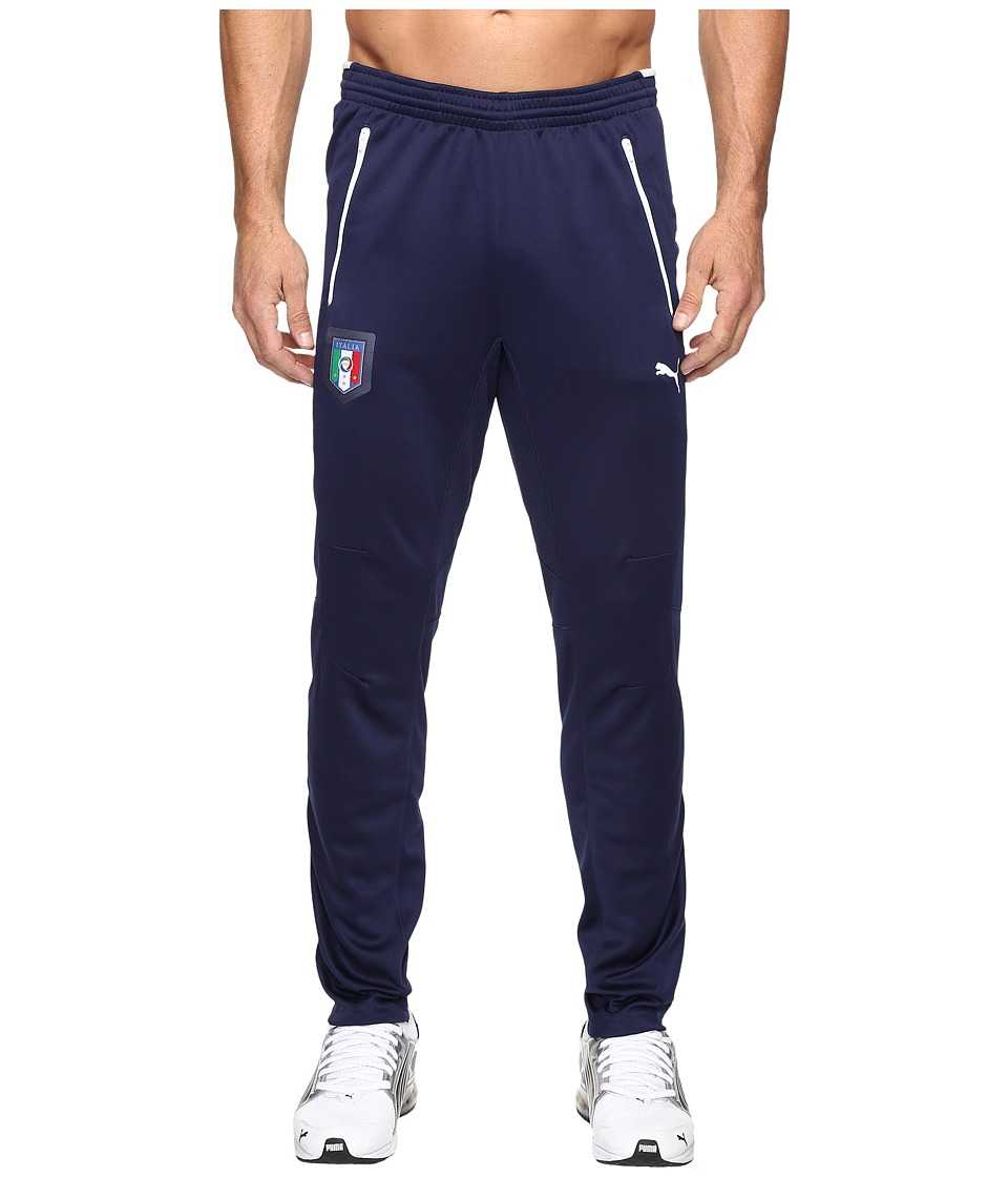 PUMA - Figc Italia Coach Training Pants (Peacoat/White) Men's Workout