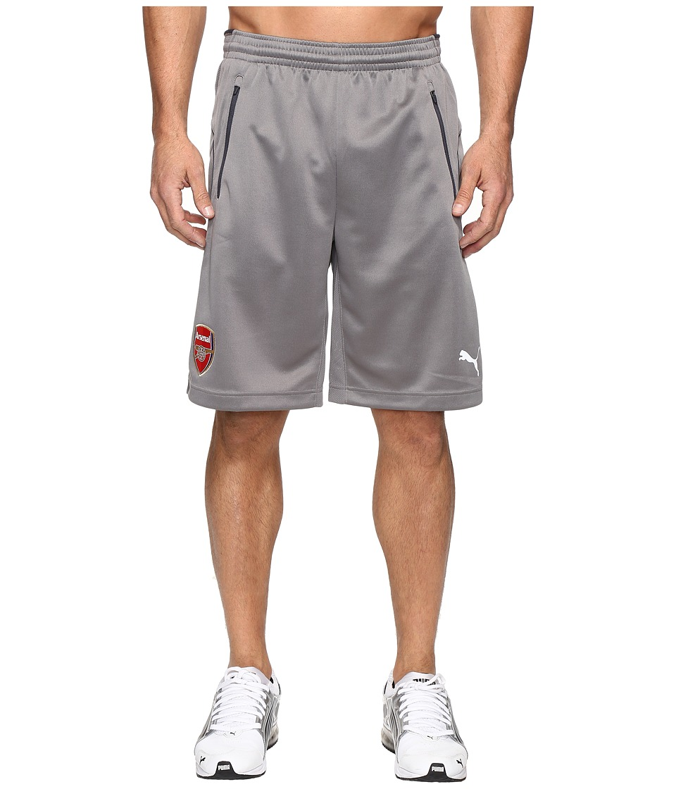 PUMA AFC Training Shorts (Steel Gray/Ebony) Men