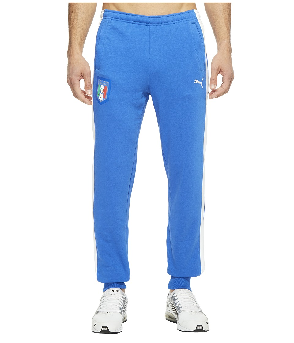 PUMA - FIGC Italia Fanwear Cuffed Pants (Team Power Blue/White) Men's Workout