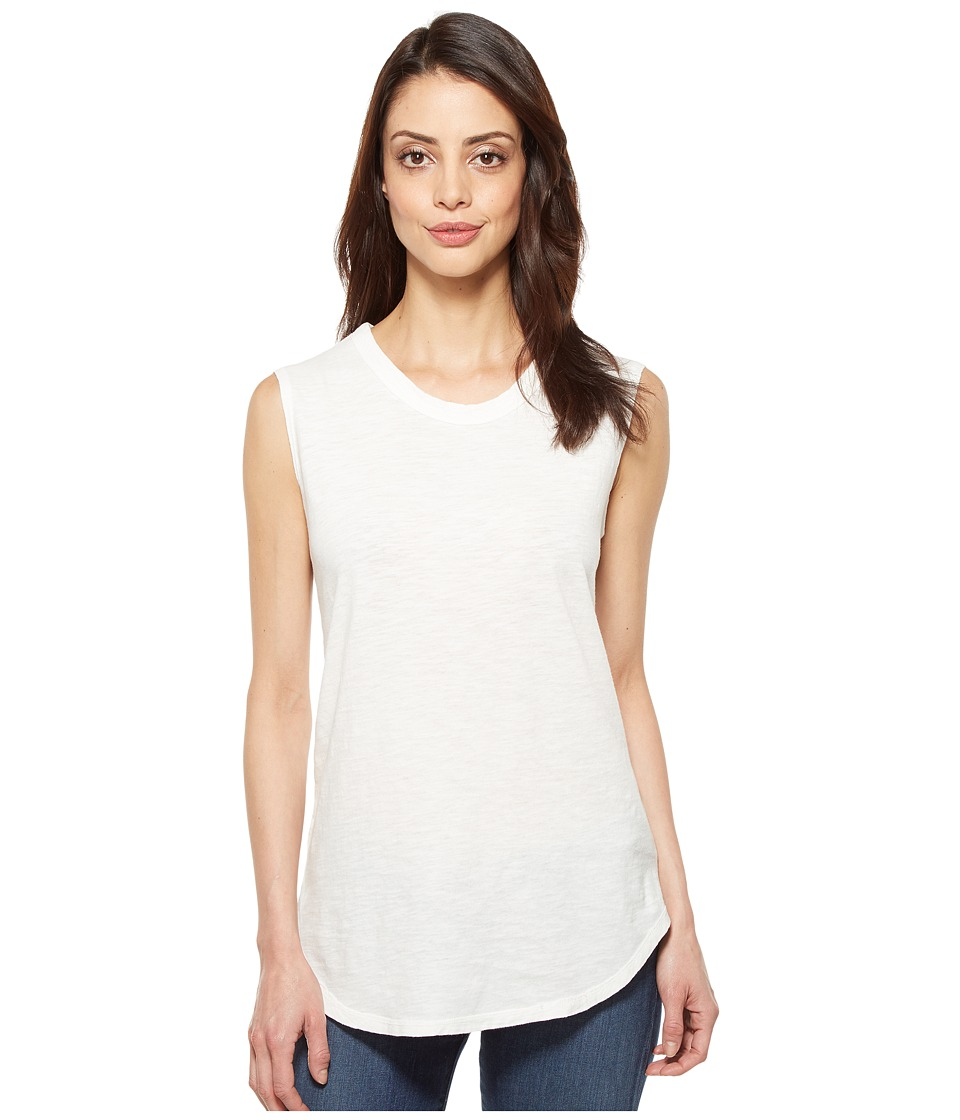 Alternative - Inside Out Slub Sleeveless T-Shirt (Vintage White Reactive) Women's Sleeveless