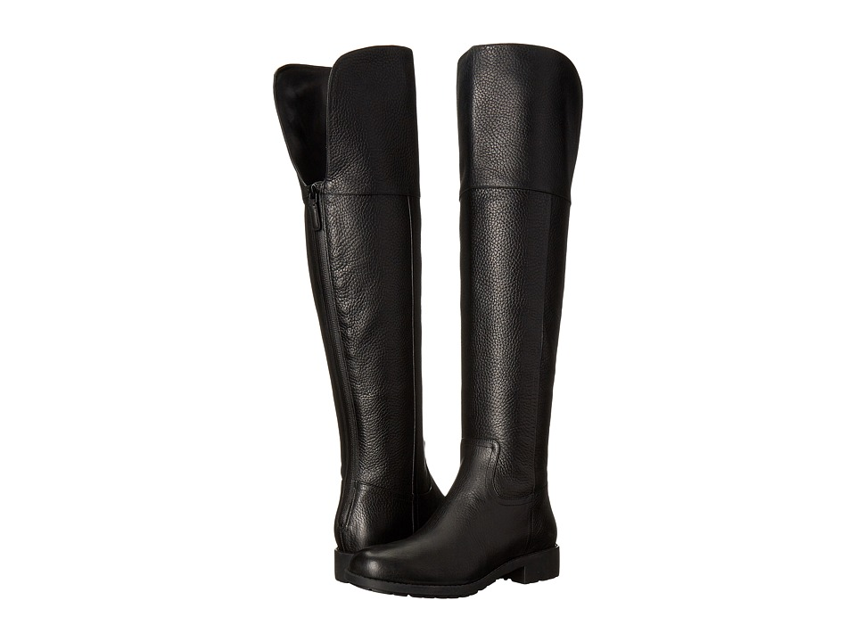 Cole Haan - Pretiss Over The Knee Waterproof Boot (Black Leather) Women's Waterproof Boots