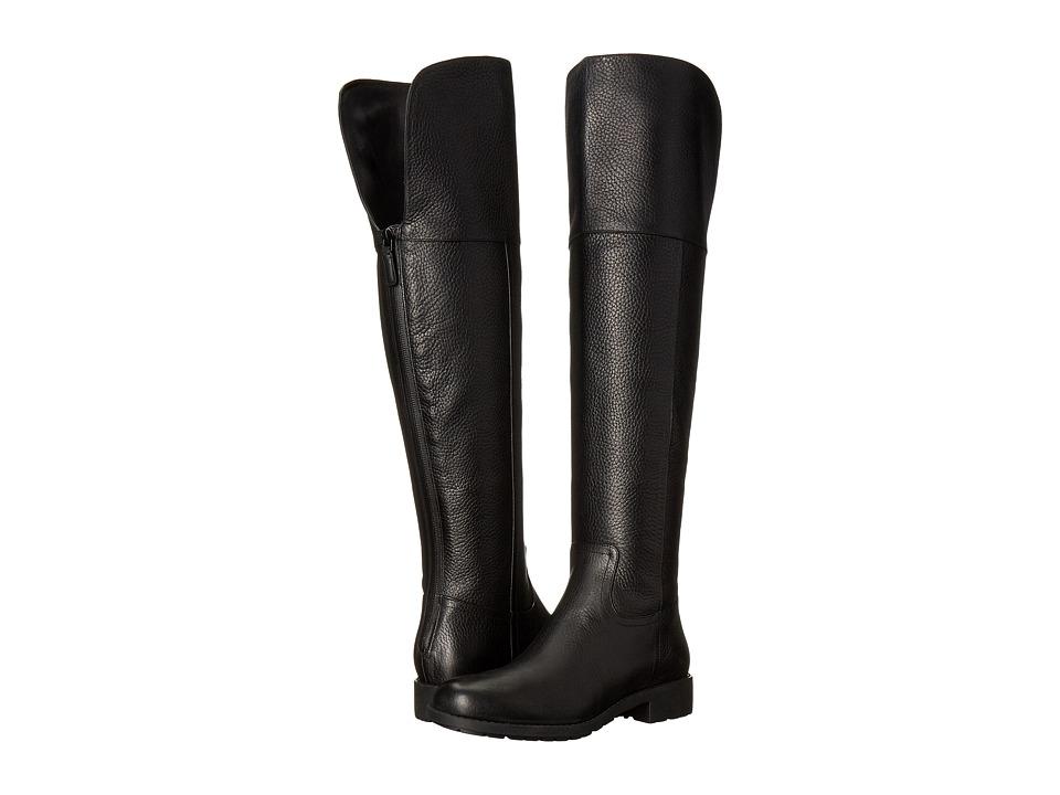 Cole Haan - Pretiss Over The Knee Waterproof Boot (Black Leather) Women's Waterproof Boots