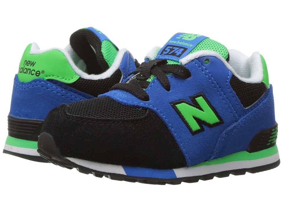 New Balance Kids - KL574v1 (Infant/Toddler) (Black/Blue) Boys Shoes