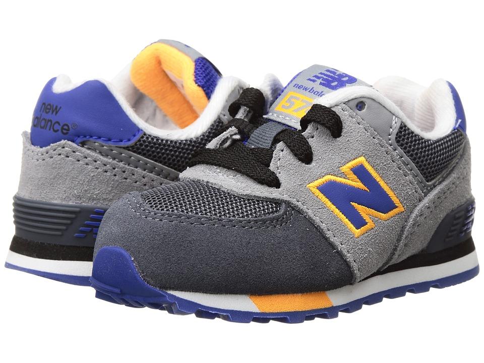New Balance Kids - KL574v1 (Infant/Toddler) (Grey/Blue) Boys Shoes