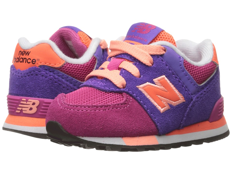 New Balance Kids - KL574v1 (Infant/Toddler) (Pink/Purple) Girls Shoes