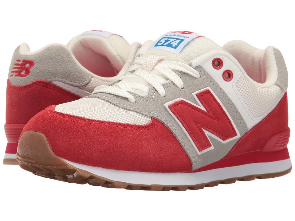 New Balance Kids - KL574v1 (Big Kid) (Red/White) Boys Shoes