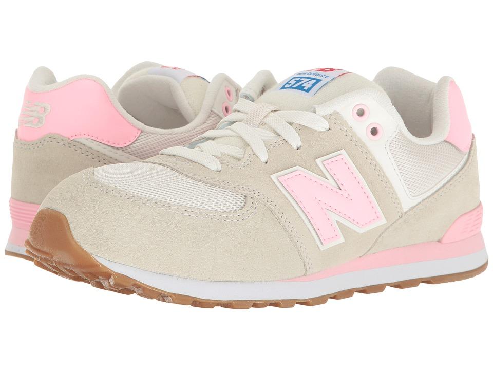 New Balance Kids KL574v1 (Big Kid) (Pink/White) Girls Shoes