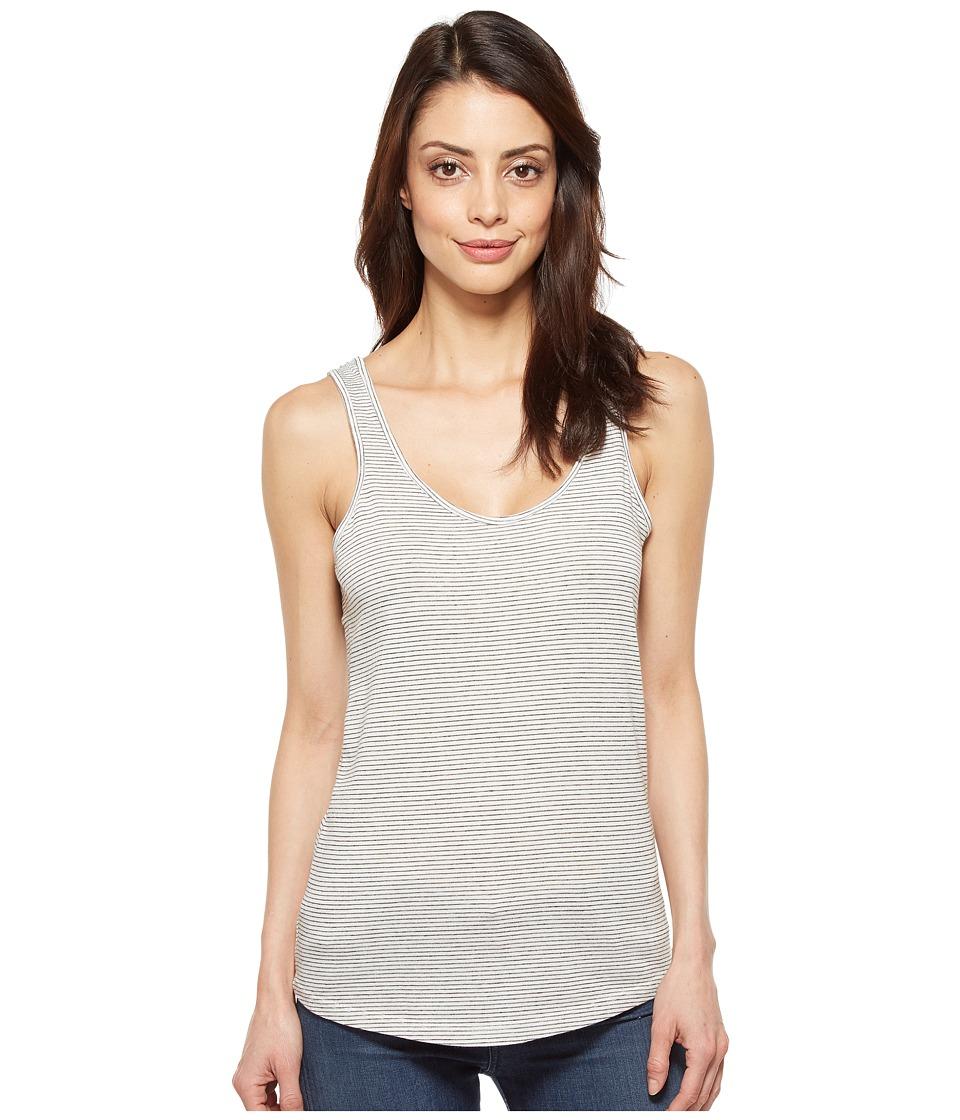 Alternative - Castaway Eco-Jersey Stripe Tank Top (Eco Ivory Seaside Stripe) Women's Sleeveless
