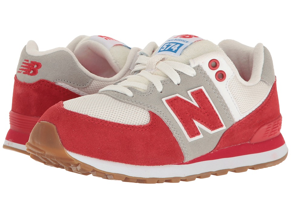 New Balance Kids - KL574v1 (Little Kid) (Red/White) Boys Shoes