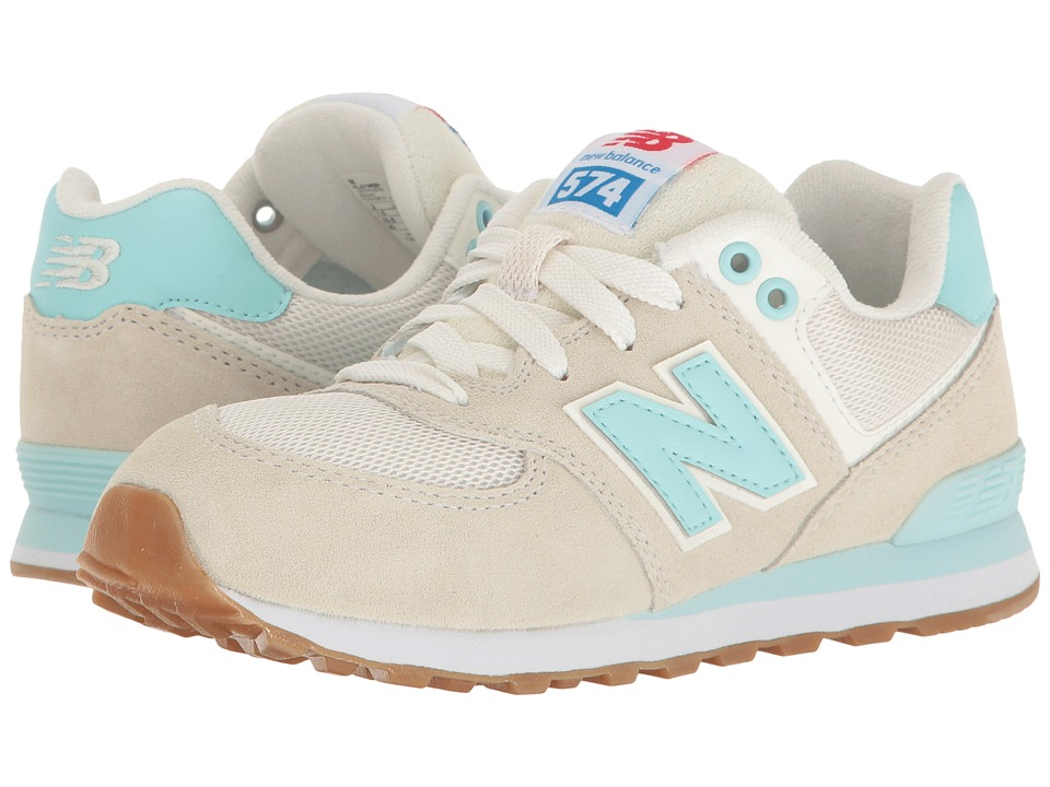 New Balance Kids - KL574v1 (Little Kid) (Teal/White) Girls Shoes