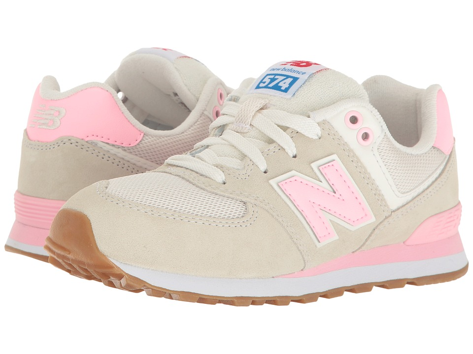 New Balance Kids - KL574v1 (Little Kid) (Pink/White) Girls Shoes