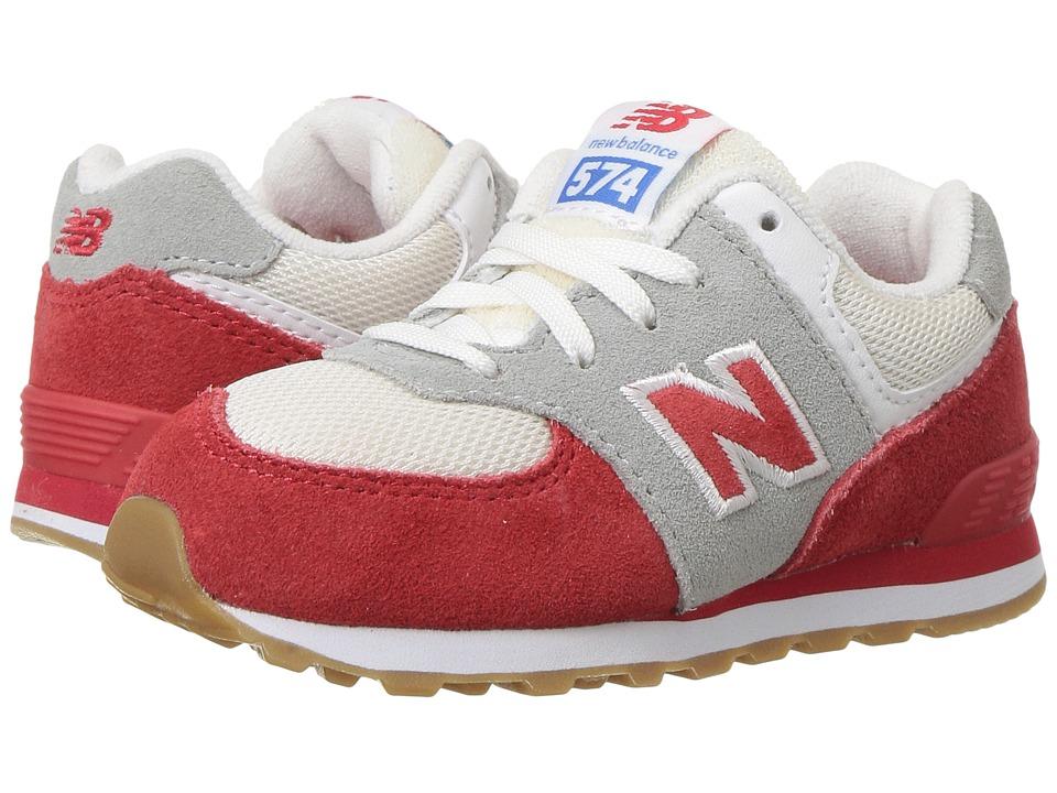 New Balance Kids - KL574v1 (Infant/Toddler) (Red/White) Boys Shoes