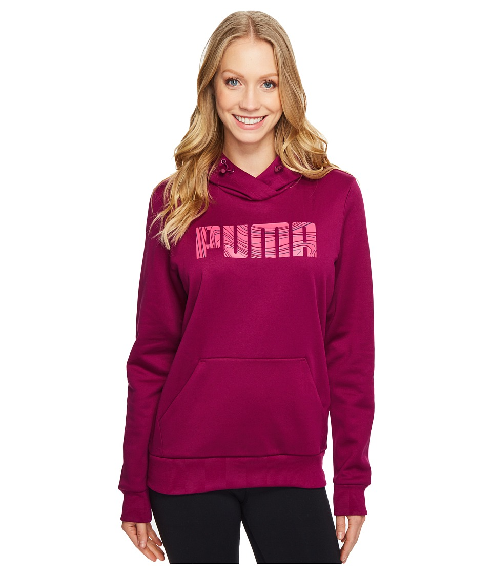 PUMA - ELEVATED Poly FL Hoodie (Magenta Purple) Women's Sweatshirt
