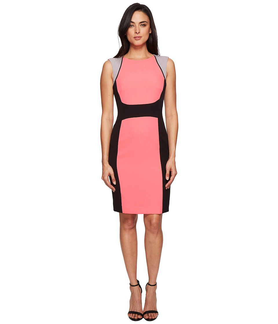 Tahari by ASL - Crepe Wide-Stripe Color Block Sheath (Daiquiri/Black/Grey) Women's Dress