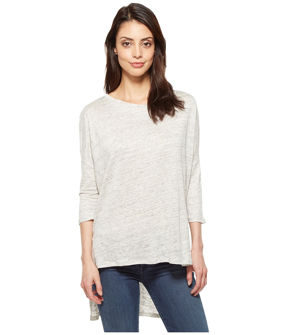 Alternative - Amelie Linen Jersey 3/4 Sleeve T-Shirt (Ash Heather) Women's Long Sleeve Pullover