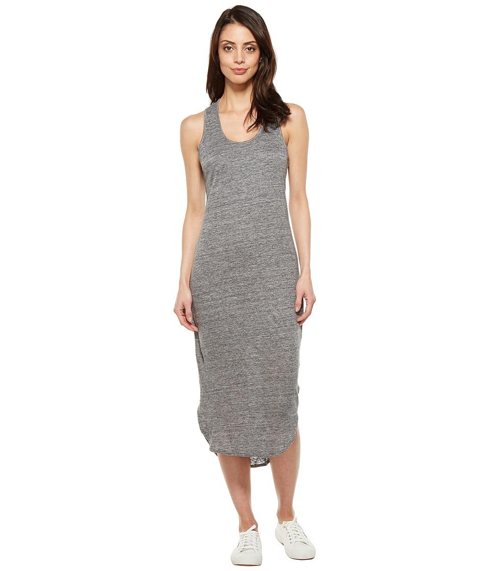 Alternative Bridgette Linen Jersey Tank Dress (Charcoal Heather) Women