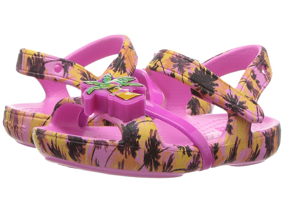 Crocs Kids - Lina Lights Sandal (Toddler/Little Kid) (Party Pink) Girls Shoes