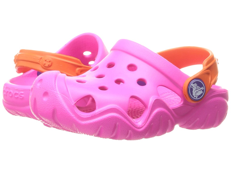 Crocs Kids - Swiftwater Clog (Toddler/Little Kid) (Neon Magenta/Tangerine) Girls Shoes