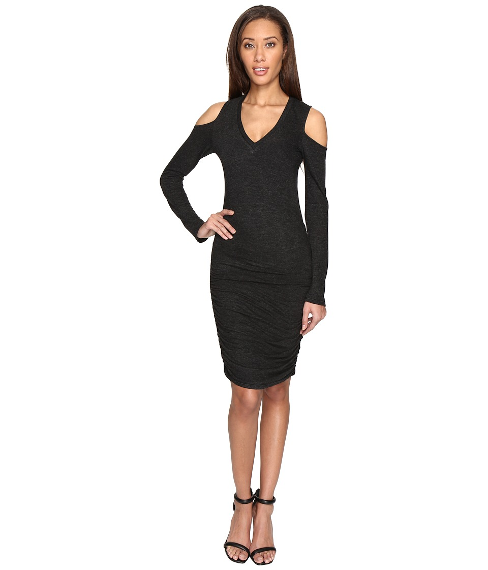 Lanston - Cut Out V-Neck Dress (Black) Women's Dress
