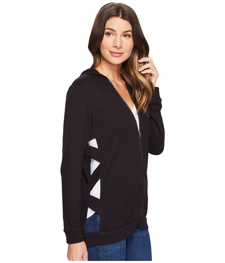 Lanston - Cut Out Tunic Hoodie (Black) Women's Sweatshirt