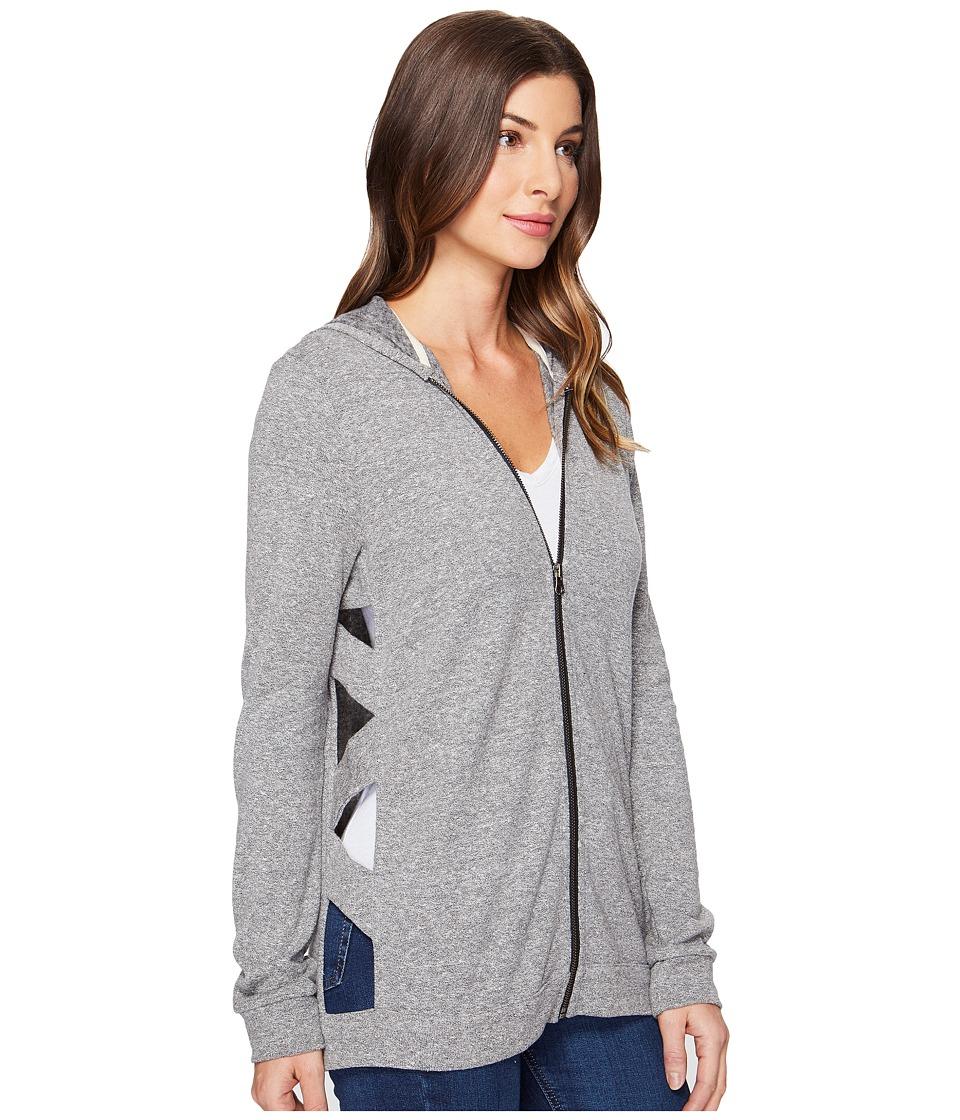 Lanston - Cut Out Tunic Hoodie (Heather) Women's Sweatshirt