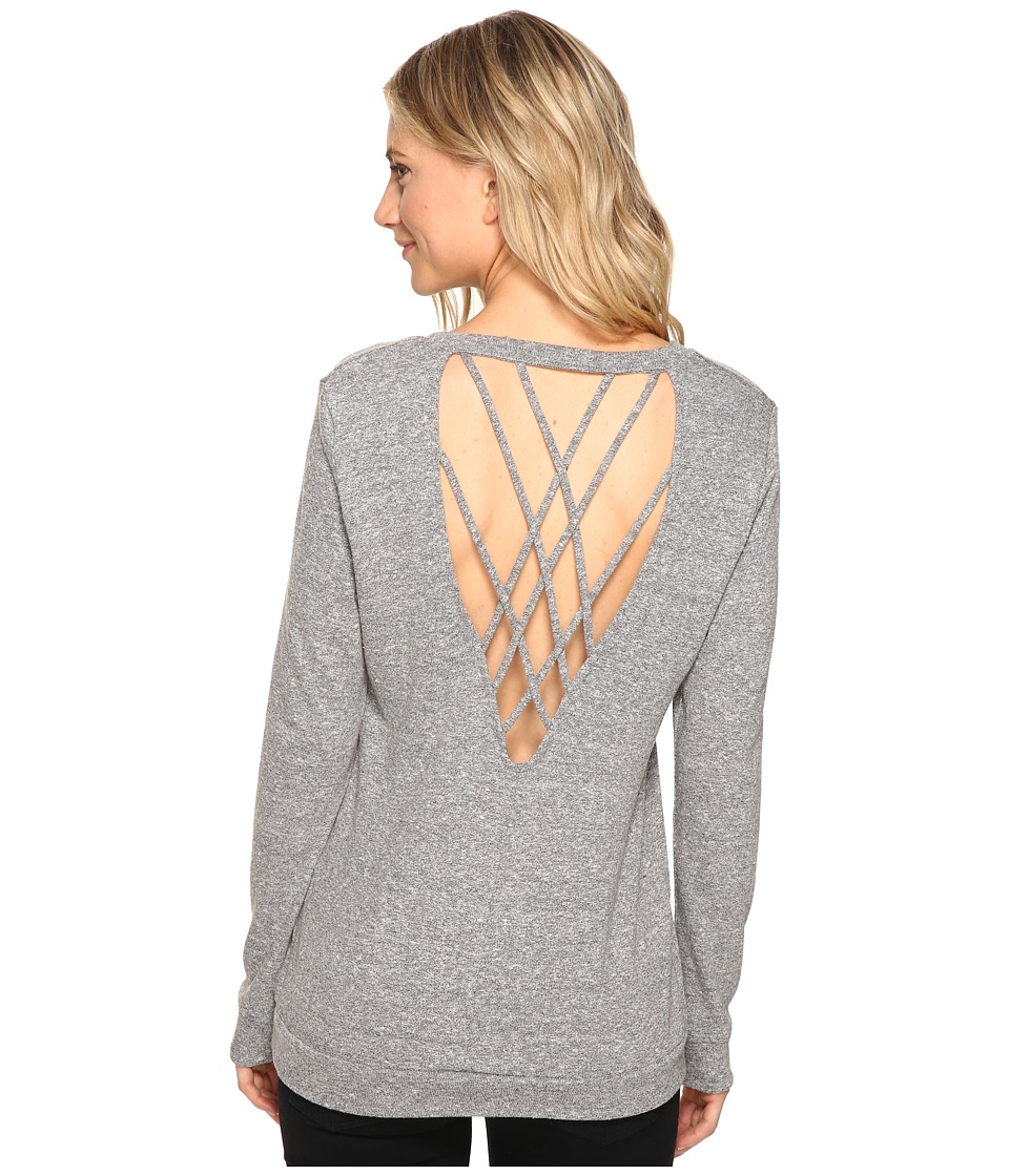 Lanston - Back Strap Pullover (Heather) Women's Clothing
