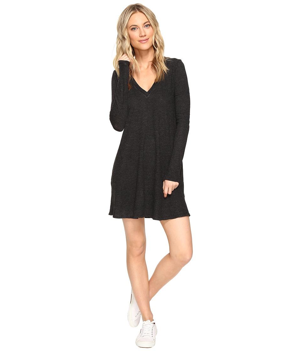 Lanston - Long Sleeve Pocket Dress (Black) Women's Dress
