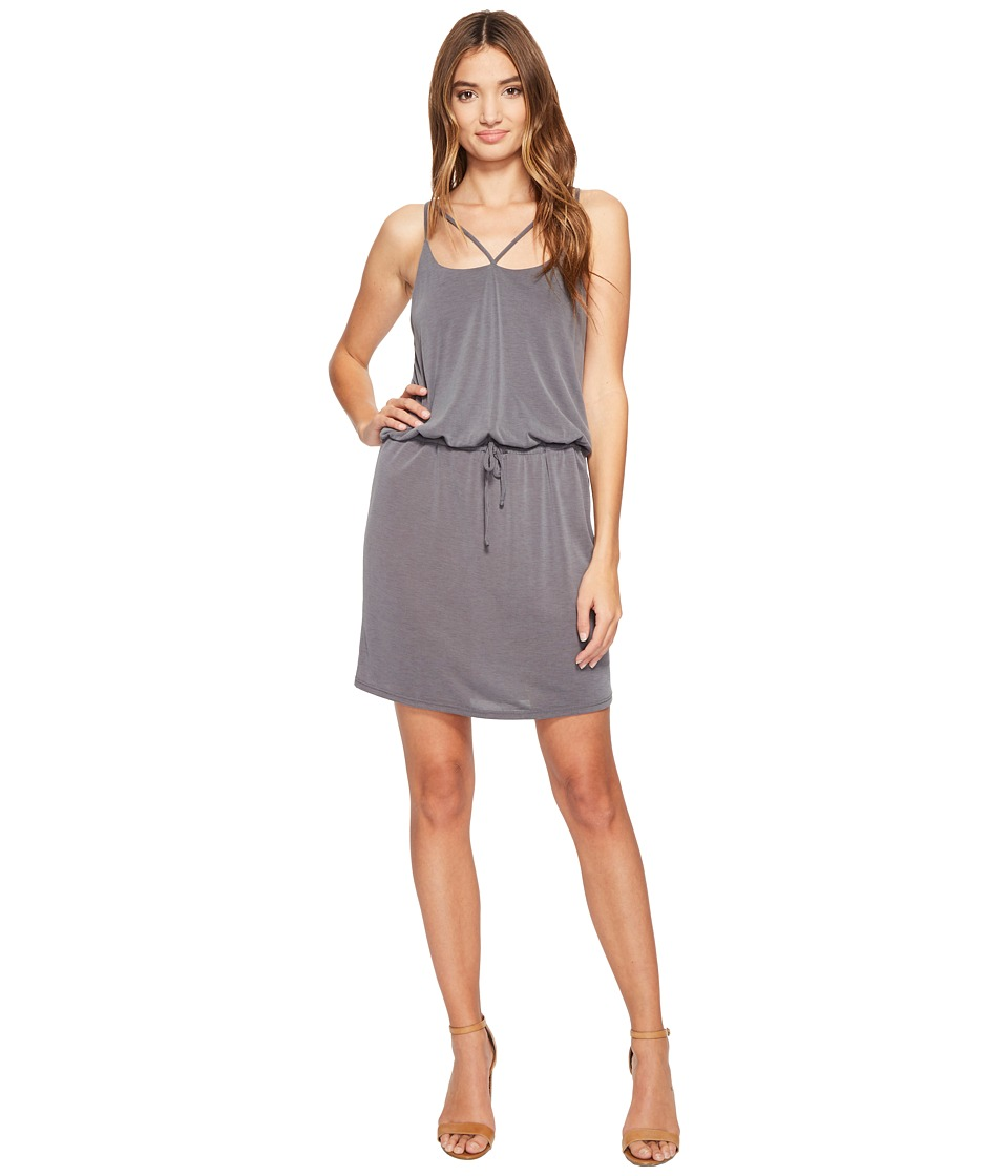 Lanston - Cross Strap Cami Dress (Smoke) Women's Dress