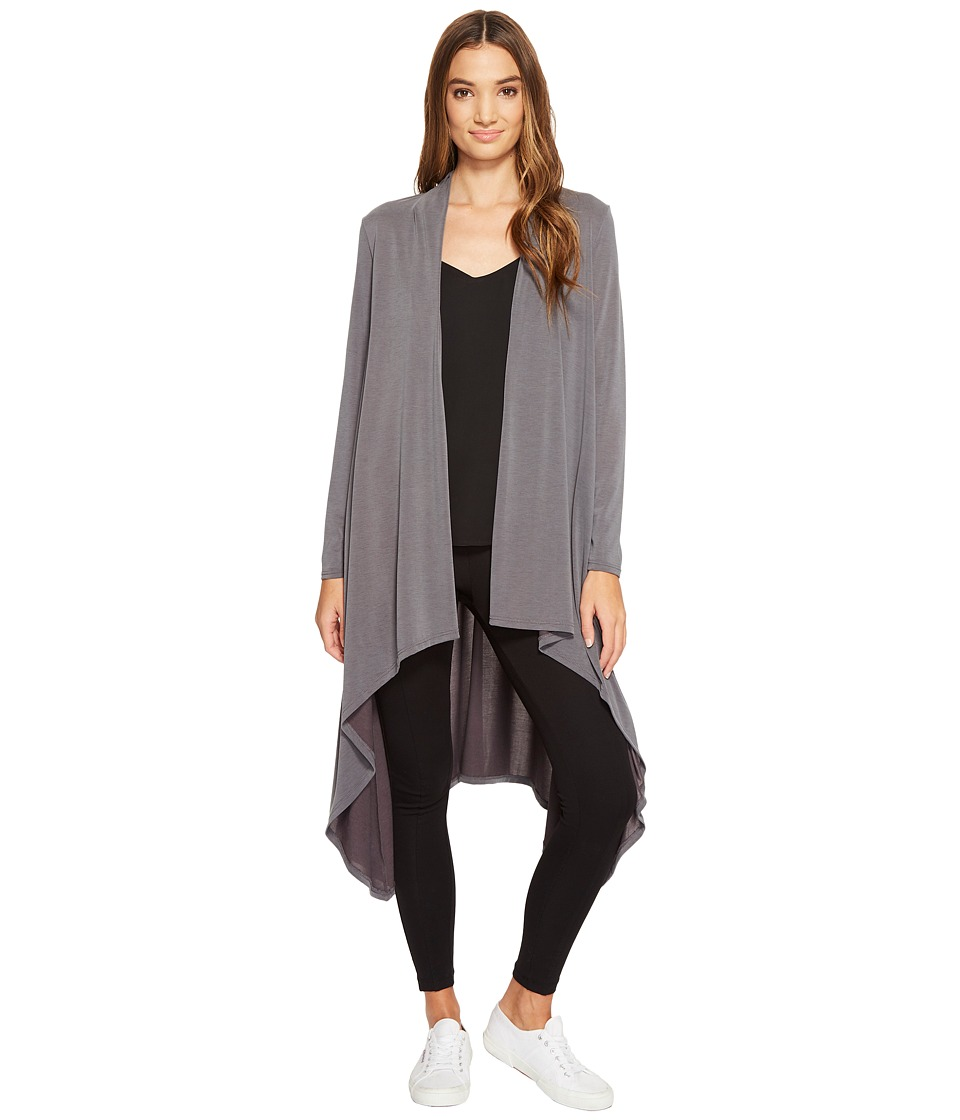 Lanston - Draped Cardigan (Smoke) Women's Sweater