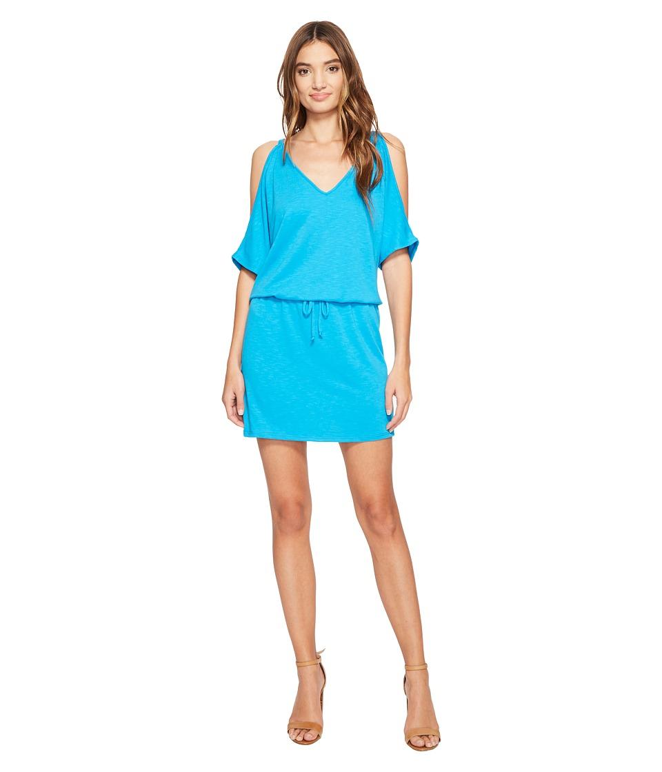 Lanston - Cold Shoulder V-Neck Dress (Splash) Women's Dress